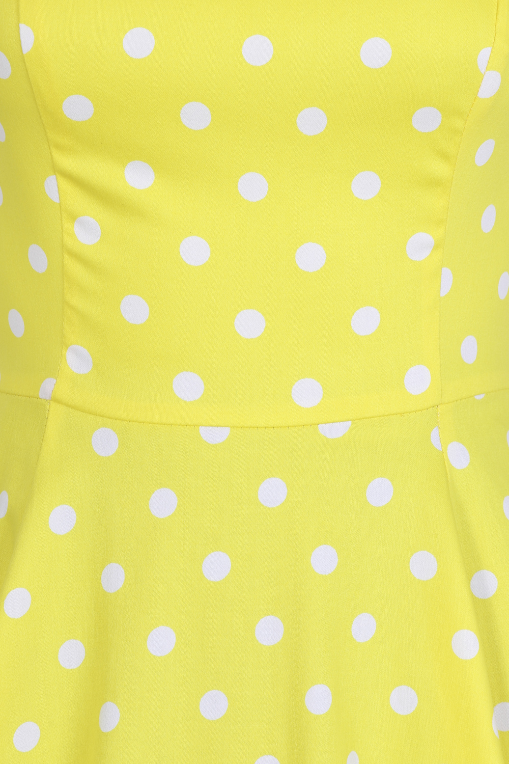 Cindy Polka Dot Swing Dress in Yellow